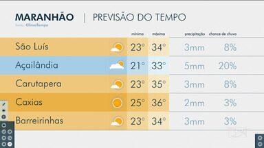 Confira a previsão do tempo para este sábado (26) no Maranhão - Veja a variação das temperaturas em várias cidades do estado.