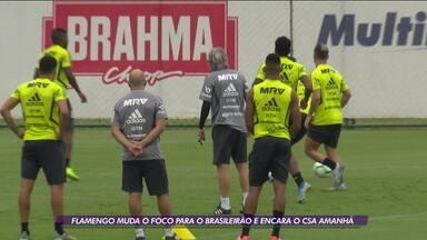 Em lua de mel, Flamengo muda o foco da Libertadores para encarar o CSA pelo Brasileirão - Em lua de mel, Flamengo muda o foco da Libertadores para encarar o CSA pelo Brasileirão