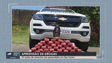 Dois homens são presos com 47 kg de maconha em São Carlos - Polícia Militar chegou até suspeitos após denúncia anônima.