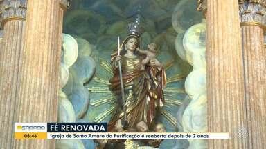 Igreja de Nossa Senhora da Purificação é reaberta após passar dois anos em obras - O templo fica na cidade de Santo Amaro, na região do recôncavo.