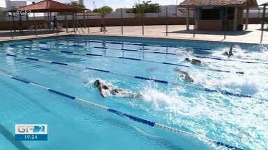 Atletas participaram neste sábado da nona competição Melhores do Crawl no Sesi - Competição aconteceu no Parque Aquática do Sesi.
