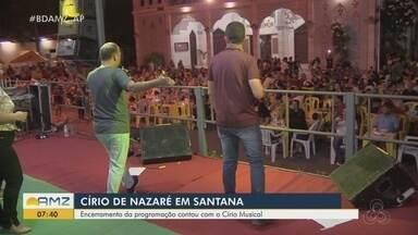 Com exposição e louvor, Festival Amazônico encerra o Círio de Nazaré em Santana - Programação cultural e religiosa atraiu centenas de visitantes neste fim de semana.