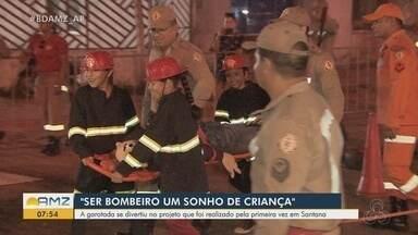 Crianças vivem 'sonho de criança' e têm dia de bombeiro em Santana - Programação reuniu os pequenos e ofereceu experiências de resgate e salvamento.