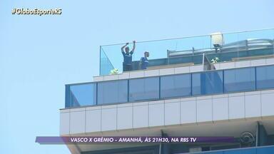 Grêmio faz o último treino antes da partida contra o Vasco e Renato já deve definir o time - Assista ao vídeo.