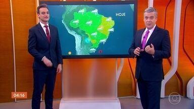 Confira a previsão do tempo para todo o país nesta quarta-feira - A previsão é de chuva em parte do estado do Paraná.