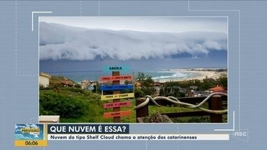 Nuvens 'supercélula', associadas a temporais, formam-se em Santa Catarina - Nuvens 'supercélula', associadas a temporais, formam-se em Santa Catarina