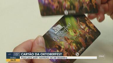 Reembolso de cartão de consumo da Oktoberfest 2019 em Blumenau vai até dezembro - Reembolso de cartão de consumo da Oktoberfest 2019 em Blumenau vai até dezembro