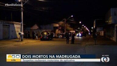 Suspeitos de assaltar motorista de aplicativo em Goiânia são mortos em troca de tiros - Equipe fala sobre busca e identificação dos investigados.