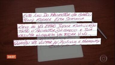 Carta encontrada em presídio de SP revela ameaça de morte a promotor - Carta foi apreendida na Penitenciária de Presidente Bernardes. Criminosos tinham plano de ataque e de fuga.