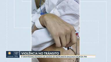 É grave o estado de saúde do motorista baleado por um PM aposentado - Weverton Leonardo Elias, de 32 anos, levou um tiro na cabeça no dia 02 de agosto, na avenida Elmo Serejo, em Taguatinga. O PM aposentado Francisco Cipriano Vieira confessou que atirou e está livre.