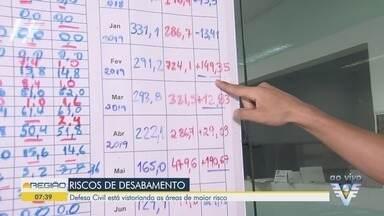 Defesa Civil inicia vistoria em áreas de risco em Santos - Objetivo é descobrir os pontos onde podem acontecer deslizamentos na época das chuvas.