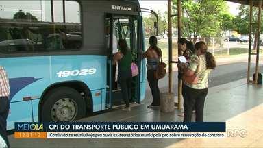 Comissão começa a ouvir ex-secretários municipais na CPI do Transporte Público em Umuarama - Reunião foi hoje na Câmara de Vereadores.