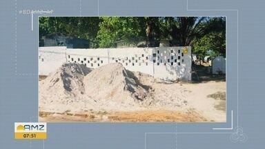 Cemitério de Oiapoque recebe serviços de limpeza para o Dia de Finados - Ações de capina, roçagem e pintura de meio fio.