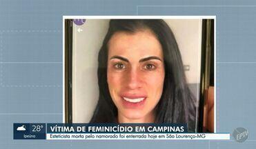 Corpo de esteticista morta por namorado em Campinas é enterrado - Sepultamento de Ana Mahas Zaher, de 38 anos, aconteceu em São Lourenço (MG). Crime ocorreu na última terça-feira (29), no bairro Jardim Palmeiras; suspeito está preso no Centro de Detenção Previsória (CDP) de Hortolândia (SP).
