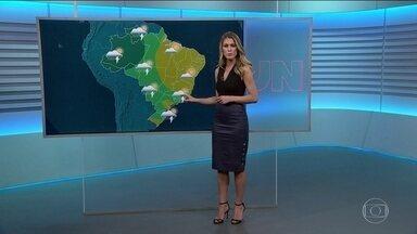 Veja a previsão do tempo para sexta-feira (1º) - Novembro começa com chuva forte no Norte e de forma isolada em parte do Centro-Oeste e do Sudeste.