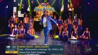 'Em Cartaz': Reder Circus, Ícaro Silva, Dudu Nobre, Orquestra do Rock e Dinho Ouro Preto - Confira as atrações na região para o fim de semana.