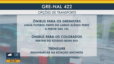 Confira as mudanças no transporte público domingo (3) por causa do Gre-Nal - Assista ao vídeo.