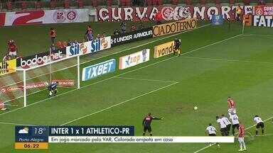 Assista aos gols do empate em 1 a 1 entre Inter e Athletico-PR - Assista ao vídeo.
