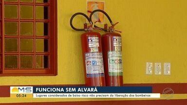 Estabelecimentos considerados de baixo risco não precisam da liberação dos bombeiros - Estabelecimentos considerados de baixo risco não precisam da liberação dos bombeiros