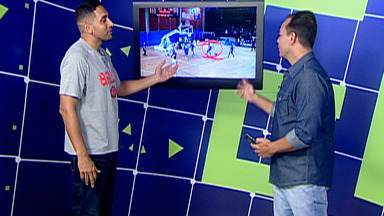 De Olho na Quadra: Filipin analisa lances de Mogi Basquete e Pinheiros - Ex-ala do Mogi comentou algumas jogadas das duas equipes, que se enfrentam na noite desta sexta-feira, no Hugão, pelo NBB.