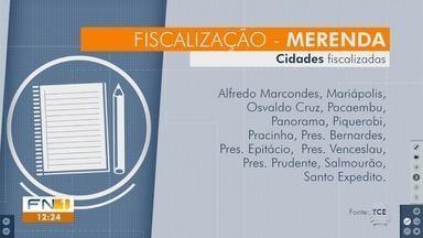 TCE fiscaliza situação de merendas escolares da rede municipal - No Oeste Paulista, 13 cidades receberam o trabalho.