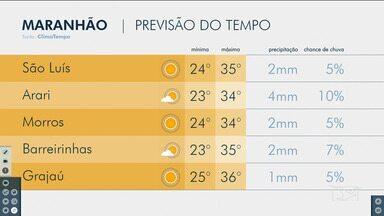 Confira as variações do tempo nesta sexta-feira (1) no Maranhão - Veja como deve ficar o tempo e a temperatura em São Luís e no Maranhão.