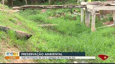 Mimoso do Sul, ES, tem ação de limpeza de rios e córregos - Ação é de preservação ambiental.