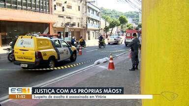 Suspeito de assalto é morto a facadas no Centro de Vitória - Crime aconteceu na manhã desta sexta-feira (1º),a na avenida Princesa Isabel. O suspeito do assassinato fugiu e não foi localizado.