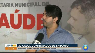 Aumenta o número de casos de sarampo na Paraíba - Subiu de 21 para 30 casos confirmados da doença no Estado.