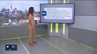 Telespectadores comentam reportagens do Bom Dia Sábado - Participação pode ser enviada pelo aplicativo Você Na RPC ou pelo twitter, usando a #BomDiaSábado.
