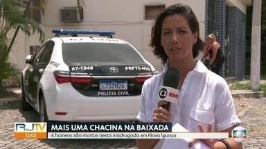 Polícia investiga assassinato de quatro homens em Nova Iguaçu - Quatro homens foram assassinados na noite desta sexta-feira (2) em Nova Iguaçu, na Baixada Fluminense.