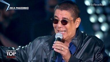 Zeca Pagodinho canta 'A Sorrir' - Cantor é o convidado top da semana