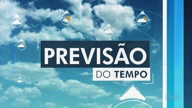 Domingo (3) deve ter pancadas de chuva em Guarapuava - Deve chover ainda na segunda, terça e quarta-feira.