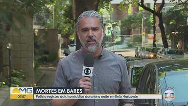 Polícia registra dois homicídios durante a noite em Belo Horizonte - Crimes foram registrados em bares da capital.
