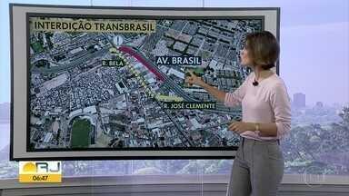 Obra do BRT muda trânsito na Avenida Brasil - undefined
