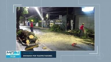 Chuva causa estragos em Montes Claros - Casas foram destelhadas e desabaram.