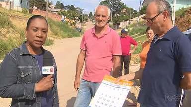 Obras na Rua Estácio de Sá, em Campo Magro não tiveram início - O calendário do Meio-Dia Paraná foi pela quarta vez até a rua e nada da obra sair do papel.