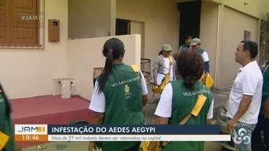 Em Manaus, campanha alerta para aumento de infestação do Aedes Aegypti - Mais de 27 mil imóveis devem ser vistoriados na capital.