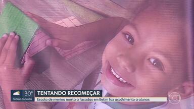 Escola de menina morta a facadas em Betim faz acolhimento a alunos - Ieda Izabel, de 5 anos, foi morta a facadas na última semana.
