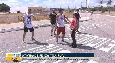 Confira as atividades físicas que podem ser praticadas na rua - Pessoenses usam lugares comuns e pontos turísticos para se exercitar