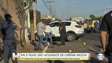 Pai e filho são acusados de chefiar milícia em Campo Grande - Dezenove integrantes do grupo estão presos. Indicado como chefe da milícia, Jamil Name, de 80 anos, foi transferido para um presídio federal.