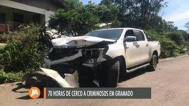 Polícia faz buscas a criminoso que sequestrou empresário e funcionários em Gramado - Sete pessoas já foram presas.