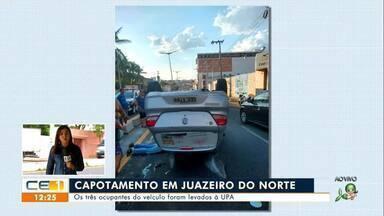 Capotamento em Juazeiro do Norte; jovem morreu após cair de moto em Várzea Alegre - Saiba mais no g1.com.br/ce