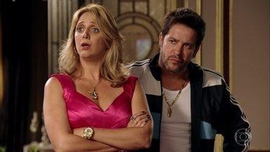 A proposta de Adauto não é bem recebida pela família de Muricy - Adauto é hostilizado por Tufão e Ivana