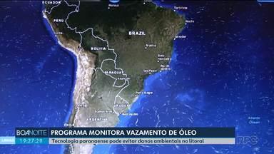 Tecnologia paranaense pode evitar danos ambientais depois de derramamento de óleo - Pesquisadores criaram um programa que monitora o litoral do Paraná e Santa Catarina.