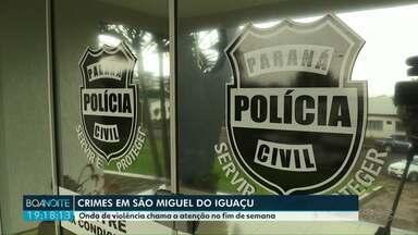 Onda de violência neste fim de semana em São Miguel do Iguaçu - Só no sábado (02) foram registrados três crimes.