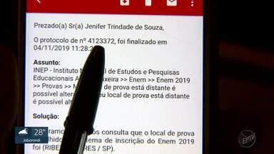 Estudante de Ribeirão Preto alega que perdeu prova do Enem por erro em cartão do Inep - Cartão de confirmação da candidata consta Ribeirão Pires, a 400 quilômetros de distância, como endereço cadastrado para o exame.