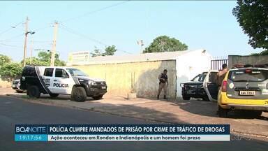 Polícia faz operação contra o tráfico de drogas em Rondon - Foram cumpridos 4 mandados de prisão e 3 de busca e apreensão.