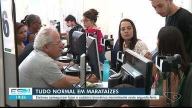 Eleitores de Marataízes, no Sul do ES, seguem fazendo cadastramento biométrico - Prazo termina neste mês.