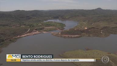 Rejeitos continuam em Bento Rodrigues 4 anos após rompimento da barragem da Samarco - Tragédia em Mariana matou 19 pessoas.